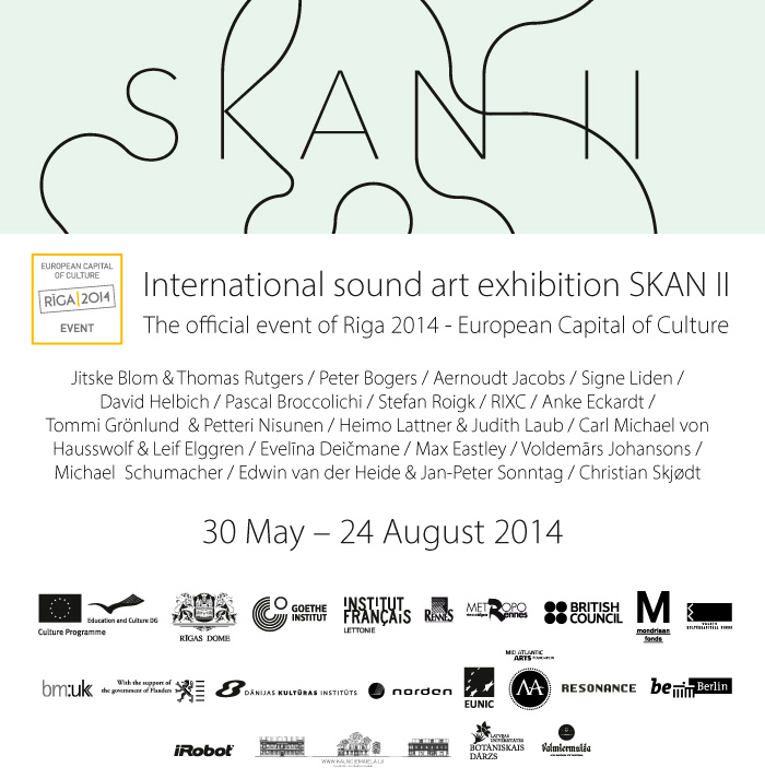 SKAN II international sound art exhibition, riga 2014 european capital of culture